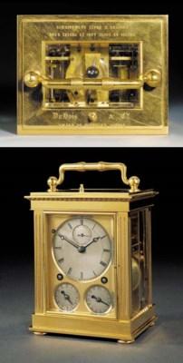 A Swiss brass chronometer carr