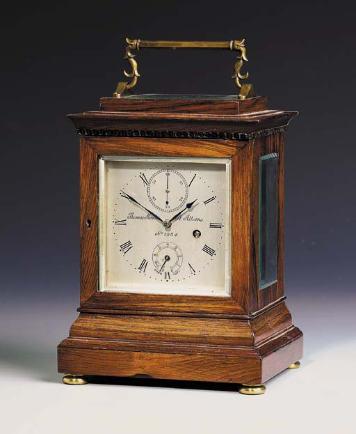An English rosewood eight-day