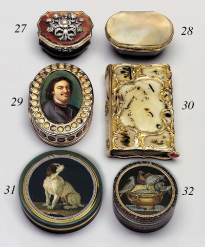 A GERMAN ROCOCO JEWELLED AND G