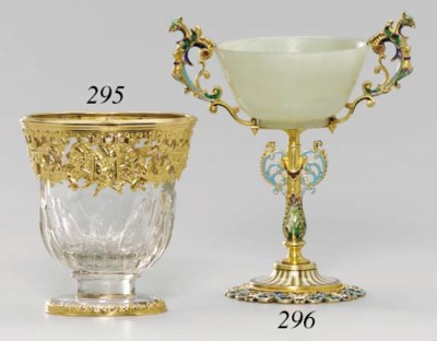 A BAROQUE-STYLE GOLD-MOUNTED R
