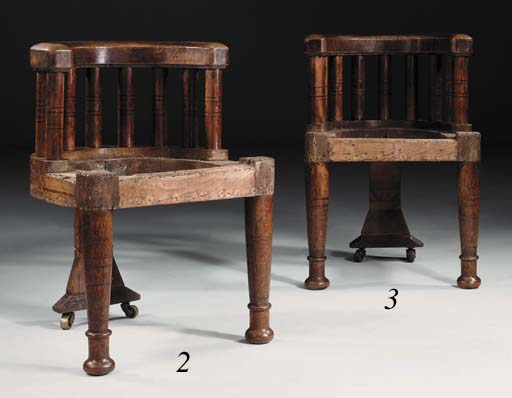 An Inlaid Oak Chair