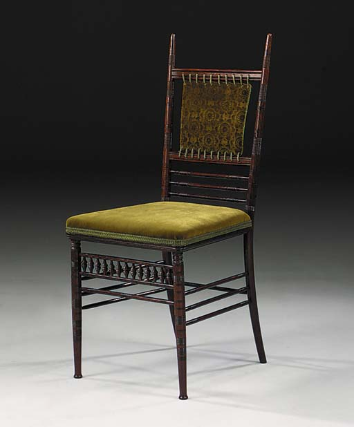 An indian rosewood side chair