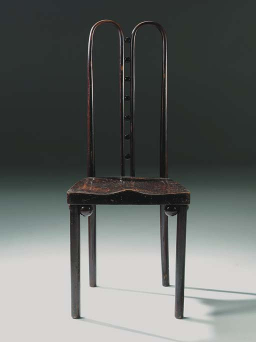A stained beech side chair, mo