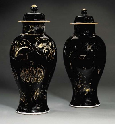A PAIR OF CHINESE MIRROR-BLACK