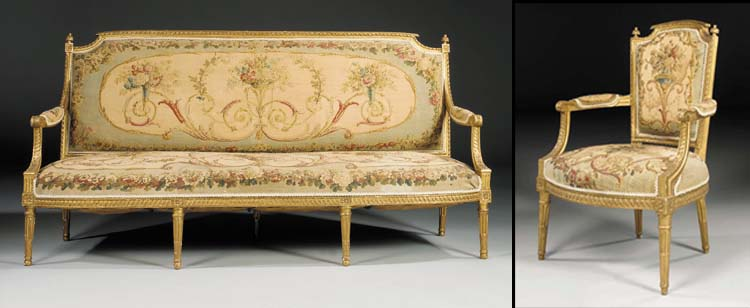 A SUITE OF LOUIS XVI CARVED GI