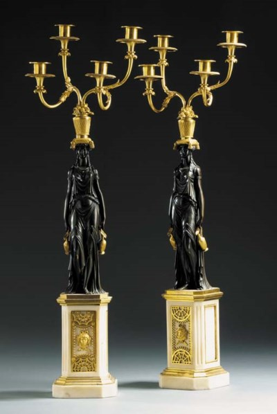 PAIR OF  LOUIS XVI ORMOLU-MOUN
