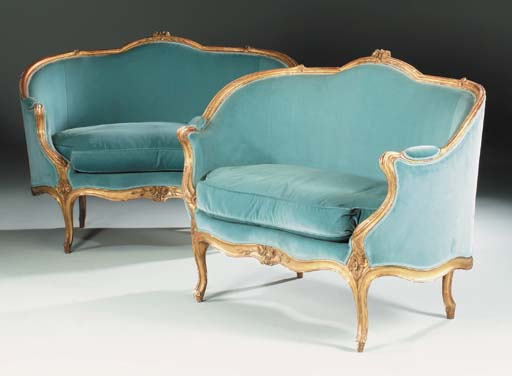 A PAIR OF LOUIS XV GILTWOOD MA