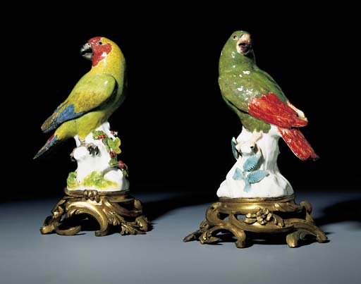 TWO MEISSEN ORMOLU-MOUNTED MOD