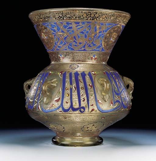 A MAMLUK ENAMELLED AND GILDED