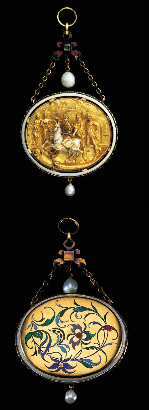A JEWELLED AND ENAMELLED GOLD
