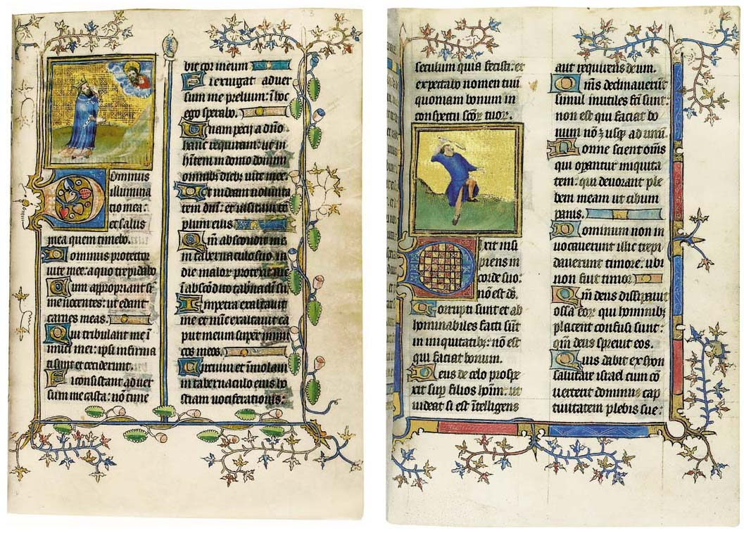 PSALTER and Canticles, with Calendar, Litany, and Office of the Dead, in Latin, ILLUMINATED MANUSCRIPT ON VELLUM