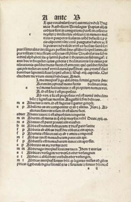 VOCABULARIUS EX QUO, in Latin