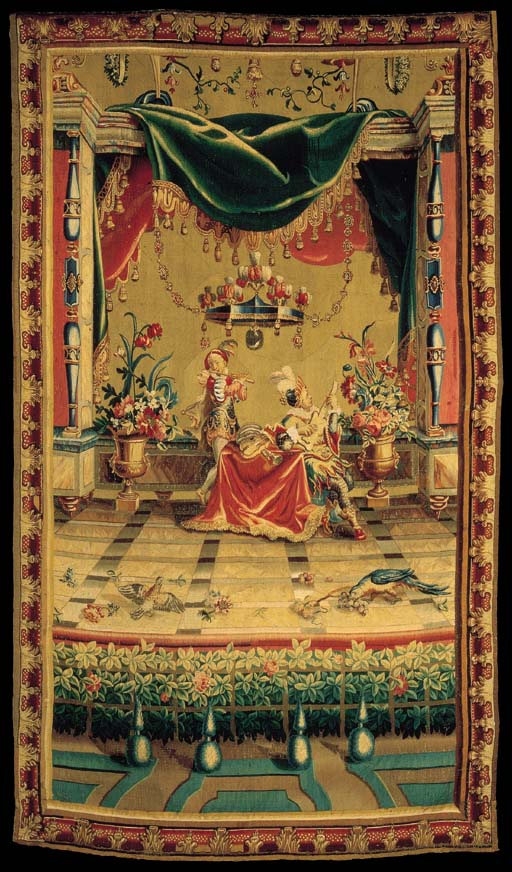 A Louis Xiv Beauvais Grotesque Tapestry Late 17th Early