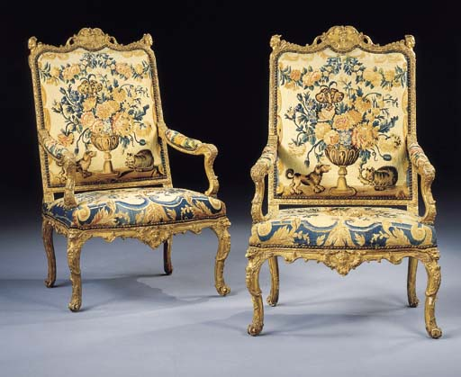 A PAIR OF LOUIS XIV GILTWOOD F