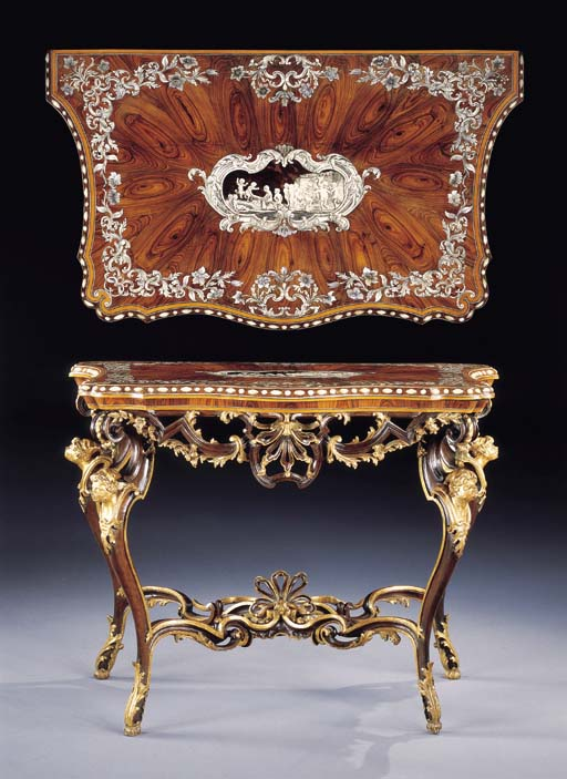 AN ITALIAN KINGWOOD, IVORY, MOTHER-OF-PEARL AND TORTOISESHELL TABLE TOP
