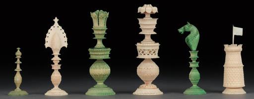 A Vizigapatnam ivory chess set