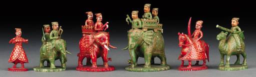 A Rajasthan polychrome ivory c