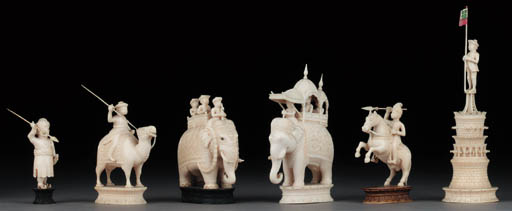An Indian ivory John Company c