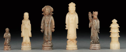 A Chinese soapstone figurative
