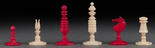 An English bone chess set