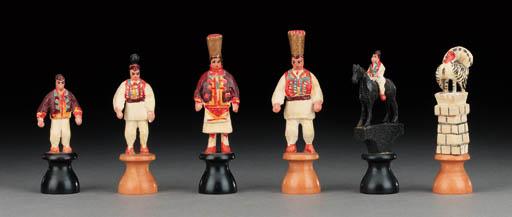 A Czech polychrome wood figura
