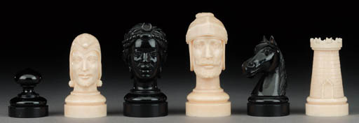 An Italian ivory bust type che