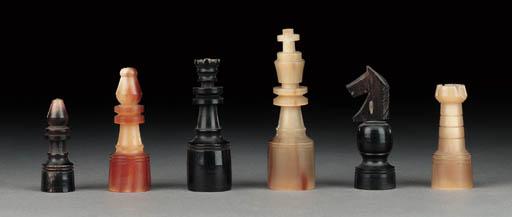 A Continental horn chess set
