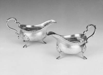 A pair of George III sauceboat