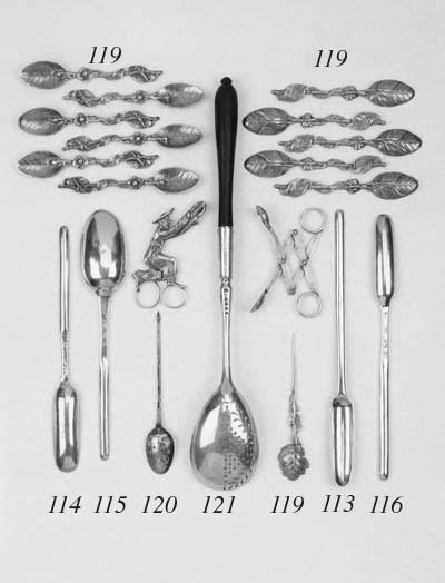 A George III strainer spoon,