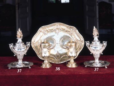 A German, silver gilt altar cr