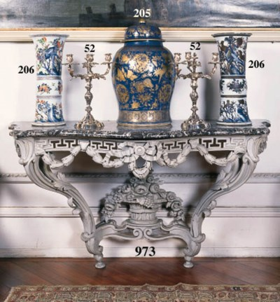 A pair of Louis XV style Frenc