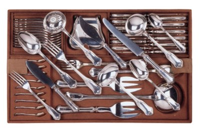 A French silver flatware servi