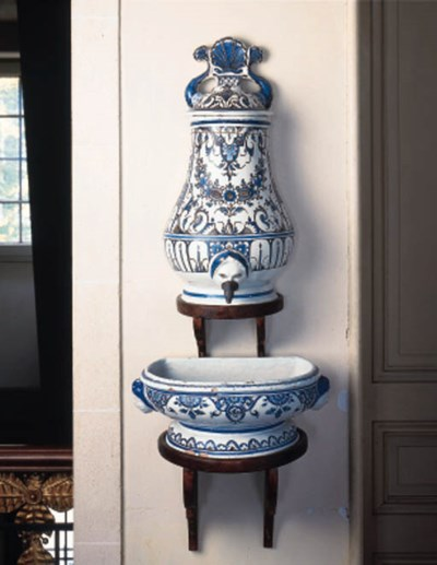 A French faience balsuter wate