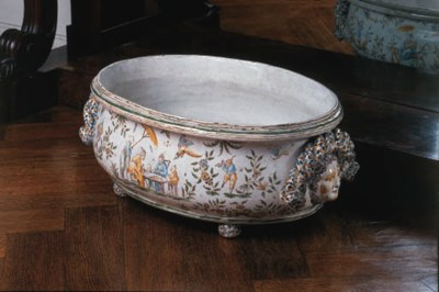 A French faience oval cistern