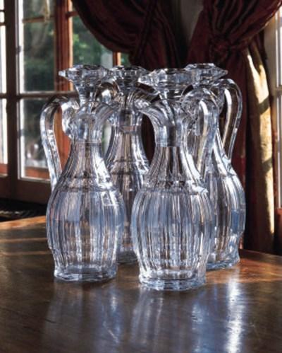 Four Continental cut-glass flu