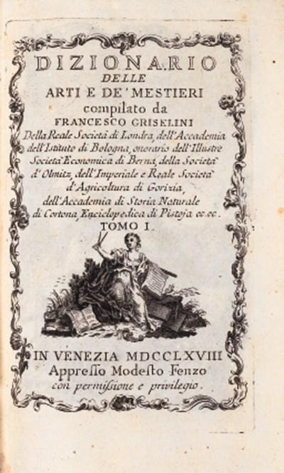 GRISELINI, Francesco. Dizionar