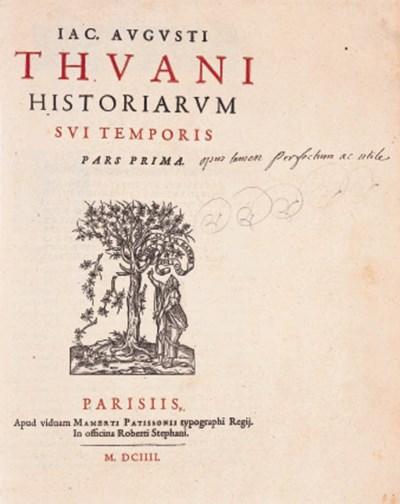 THOU, Jacques August de. Histo