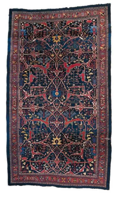 A fine antique Bijar carpet,No