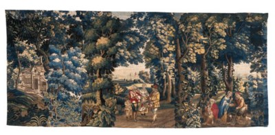 A Lillie Pastoral tapestry, ea