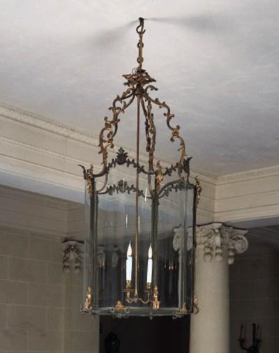 A late Louis XVI gilt brass ha