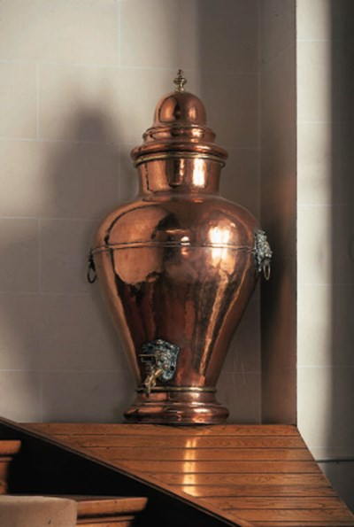 A Swiss copper and brass mount
