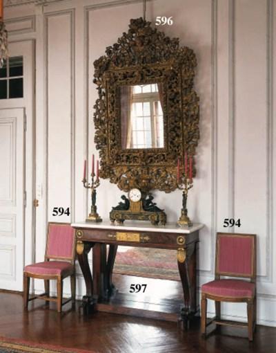 A set of nine Louis XVI beechw