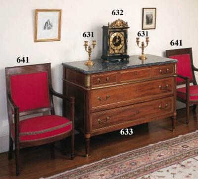 A Directoire mahogany and gilt