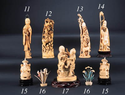 A Chinese ivory group