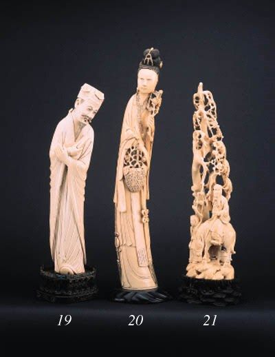 A Chinese ivory carving a fema