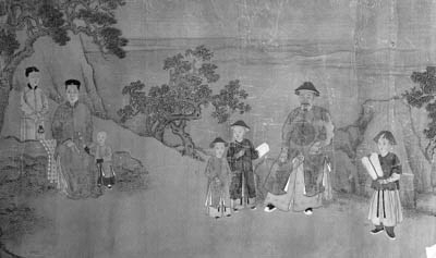 A Chinese hand scroll