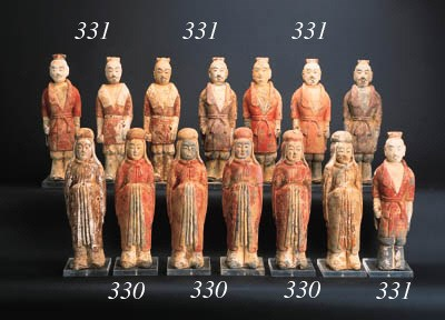 A set of eight Northern Wei po