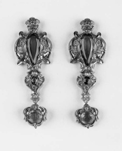 A pair of 19th. Century gold a