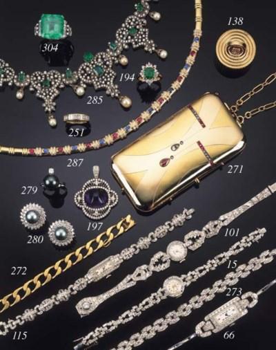 A diamond and gem set pendant