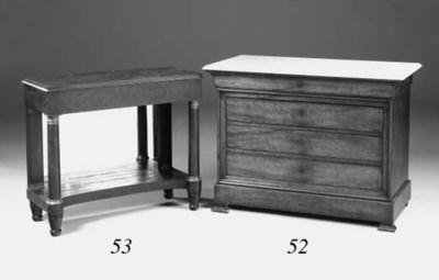 A Louis Phillipe mahogany comm